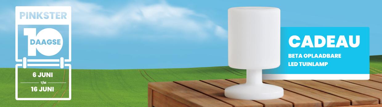 Pinkster 10 Daagse met gratis lamp| BuitenHof Tuinmeubelen